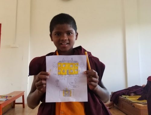 Sponsoring a young monk and a nun in India